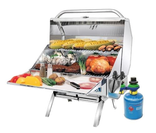"""A10-1218-2CE-2 Catalina 2 Gas BBQ 9"""" x 18"""" Cooking Area with warming Shelf"""